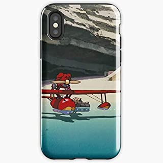Porco Rosso Plane - Apocalypse Phone Case Glass, Glowing For All Iphone, Samsung Galaxy-pengems.