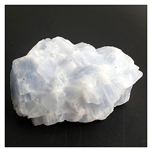 piedra natural 1 UNID CRISTAL NATURAL BLANCO O NARANJA O NARANJA O AZUL CALCIT ROCKIE REIKI SOLUCION DE CANACIÓN DE LA PISTA DE PISTA DE MINERALES DE MINERALES RAW ( Farbe : Blue Calcite , Größe : S )