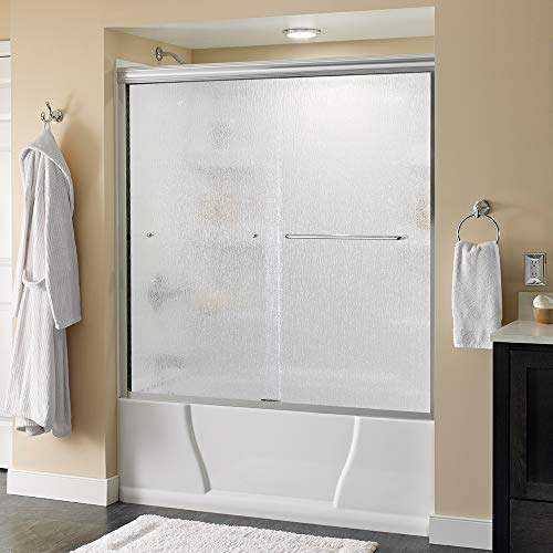 Delta Shower Doors SD3927404 Classic Semi-Frameless Traditional Sliding Bathtub, 60