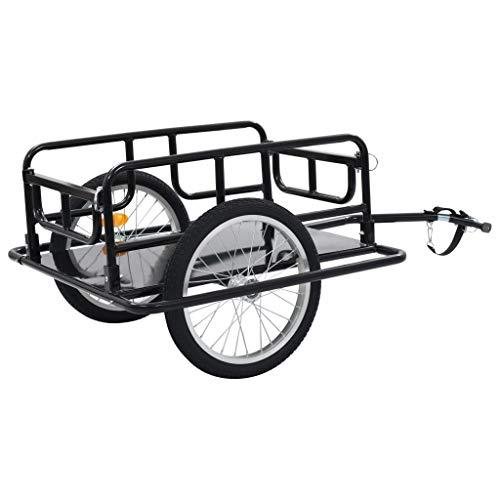 "Festnight Bike Cargo Trailer 51.2""x28.7""x19.7"" Steel Black"