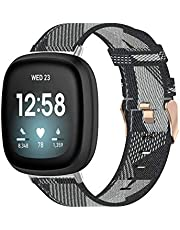 T Tersely Replacement Band Strap for Fitbit Versa 3 / Sense (2020), Breathable Woven Fabric Sport Bands Straps Adjustable Wristbands for Fitbit Versa3 Sense Smart Watch Tracker