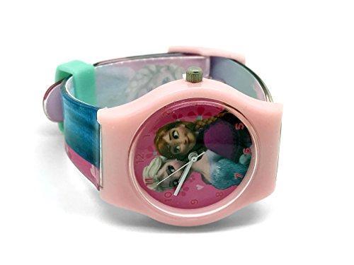 Kinderuhr Die Eiskönigin + Aufbewahrungsdose / Uhrenbox - Uhr Kinder Armbanduhr - für Mädchen - Quarz Analog Lernuhr - Quarzuhr / Box Dose - Kinder-Armbanduhr Disney Frozen