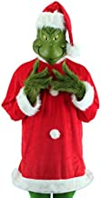 elope Dr. Seuss Santa Grinch Costume Deluxe with Mask