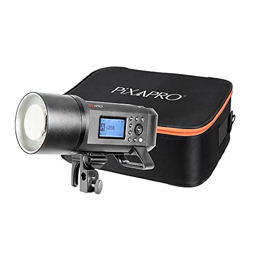 CITI600 PRO Flash alimentato a batteria con custodia imbottita – Potente lampada modellante LED da 38 W con controllo proporzionale, variabile e sincronizzato