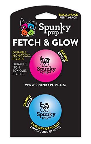 Spunky Pup rapporter et Glow Ball, Petite, 2-Pack (Couleurs Assorties)