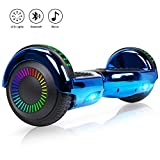 Felimoda 6.5' Hoverboard Self Balancing Scooter with Colorful LED Wheels and Top Lights - UL2272 Certified Carbon Fiber (Green)