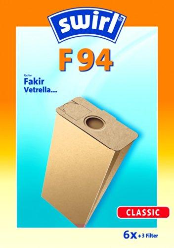 Swirl Staubsaugerbeutel F94 / F 94 für Fakir S11, S14, S15 Staubsauger