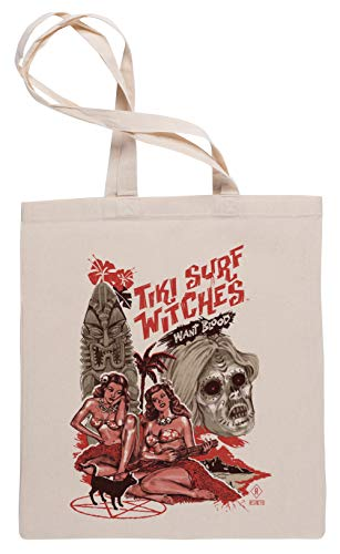 Tiki Surf Witches Want Blood - Tiki Bolsa De Compras Tote Beige Shopping Bag