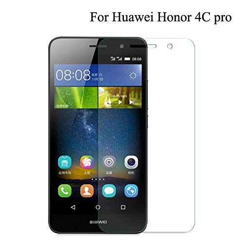 QSONGL Für Huawei y6 pro, für Honor 4C pro Glas Displayschutzfolie 9H Härte HD transparent transparent Kratzfest blasenfrei gehärtetes Glas