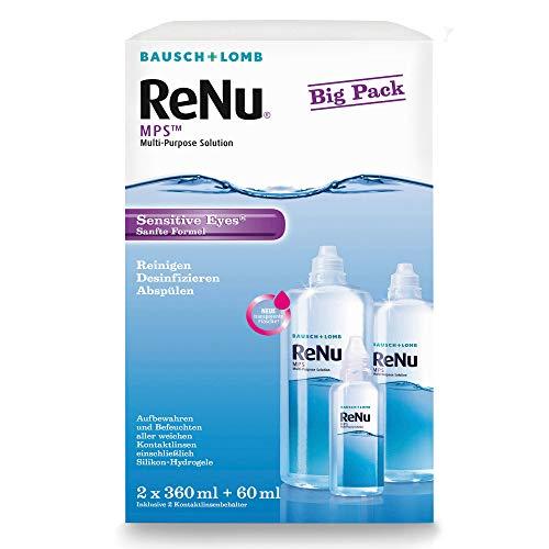 Bausch und Lomb - ReNu MPS Kontaktlinsenflüssigkeit weiche Linsen, Bigbox 2 x 360 ml + 60 ml