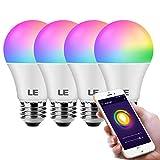 LE WiFi Smart Light Bulb Alexa, Smart Bulb Works with Google Assistant, APP