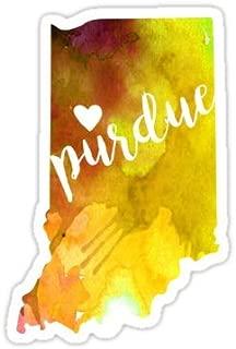 Chili Print Purdue - Sticker Graphic Bumper Window Sicker Decal - State Love Sticker
