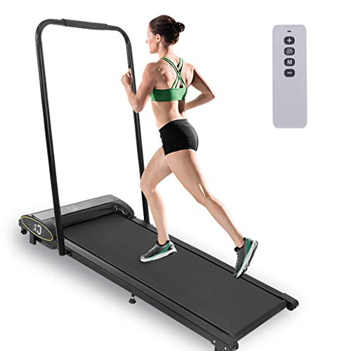SAQIMA Folding Treadmill, 1HP Under Desk Electric Treadmill, Installation-Free, Remote Control and LED Display, Walking Jogging Machine for Home/Office Use Treadmills