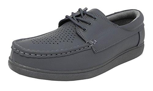 Męskie damskie płaskie podeszwy lekkie sznurowane miseczki buty do kręgle szare brązowe białe rozmiar 5-12, - szary - 44 EU