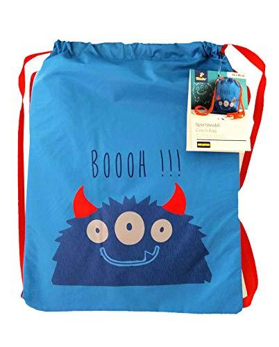 Tchibo TCM Kinder Sportbeutel Turnbeutel Sportsack Sporttasche - Dessin Einhorn oder Monster (Dessin Monster)