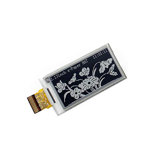 CQRobot 2.13 inch E-Paper Bare Screen Display in Black and White, DIY Open Source Electronic E-Ink Display, 250x122 Resolution, SPI Interface, Smart Watch, Shelf Label, Portable Device Displays.