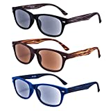 EYEGUARD 3 Pack Unisex Classic of Style Sunglasses Readers Outdoor Reading Glasses for Men and Women 2.50 - Not Bifocals