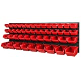 Sistema di magazzini, 1152 x 390 mm, scatola impilabile da parete, 48 scatole