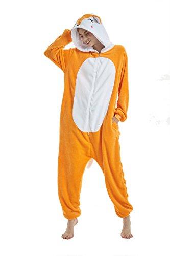 Yuson Girl Pijamas de Unicornio Pijamas de UnaPieza Adulto Pijamas Unisexo Adulto Traje Disfraz Adulto Animal Pyjamas (S:147cm-157cm, Alce)