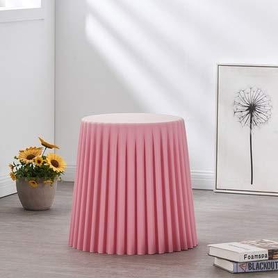 YISUNF Arrugas Plástico Mesa de café Sala de Estar Mesa Lateral Pequeño Mesa Redonda Caballera Creativa Instalación Instalación de Pasteles Decoración del hogar (Color : Barbie Pink L)