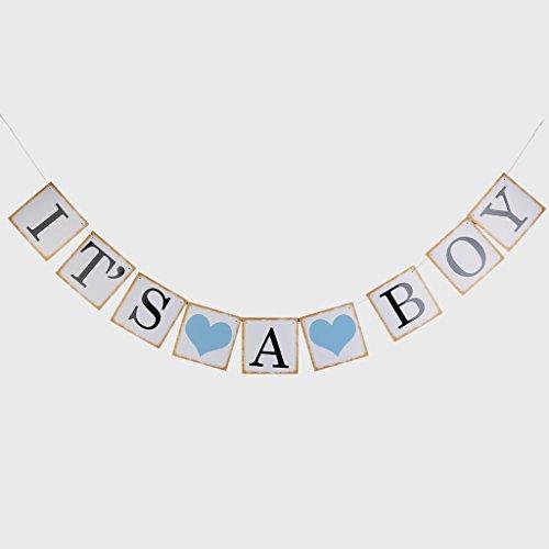 Bonarty Es Una Guirnalda de Banderines para Niña/Niño, Decoración para Fiestas de Baby Shower - 1, Individual