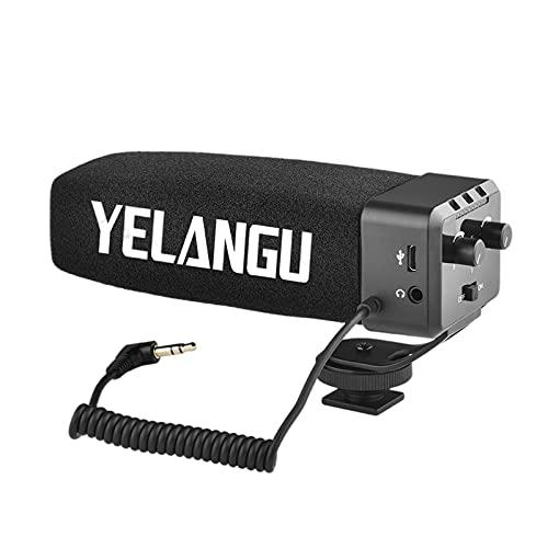 balikha Micrófono de cámara eléctrico, micrófono de grabación de Video, para cámara DSLR vlogging, Condensador direccional supercardioide