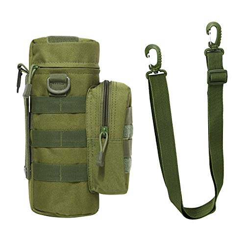 SANGSHI Bolsa para botellas de agua Molle para viajes, senderismo, ciclismo, camping, caza, escalada, etc.