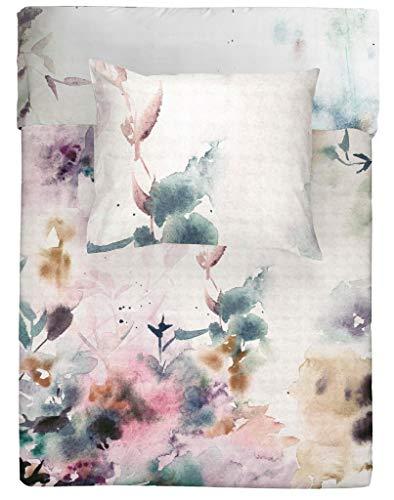Walra Bettwäsche Renforce Baumwolle Reißverschluss 155 x 220 cm (Flower Dust)