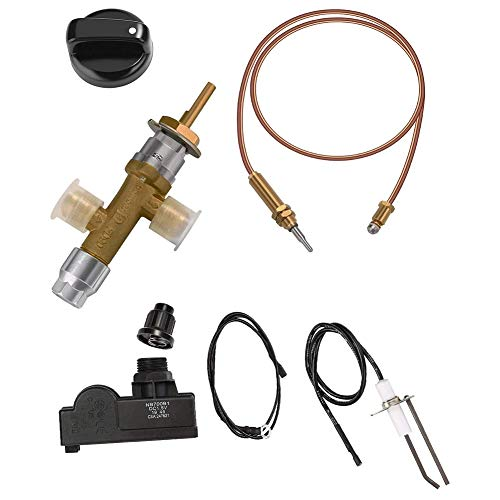 Katigan Low Pressure LPG Propane Gas Fireplace Fire Pit Safety Control Valve Kit, Push Button Ignition Kit for Gas Grill, Heater
