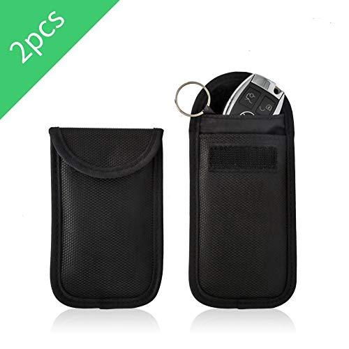 Redmoo Rfid Keyless Go Schutz Autoschlüssel,2 Stk Schlüsseletui Diebstahlschutz Autoschlüssel Schutz Keyless Oxford Schlüsseltasche nfc Schutzhülle Kreditkarte,Strahlenschutz,Blocking Hülle
