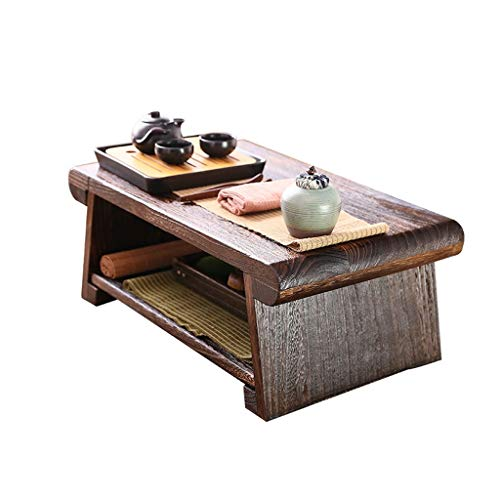noyydh Foldable Small Coffee Table 炕 Table Coffee Table Tatami Table Solid Wood Window Sill Low Table (Size : 80cm)