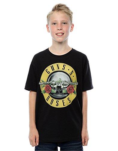 Guns N Roses Niños Bullet Logo Camiseta 9-11 Years Negro