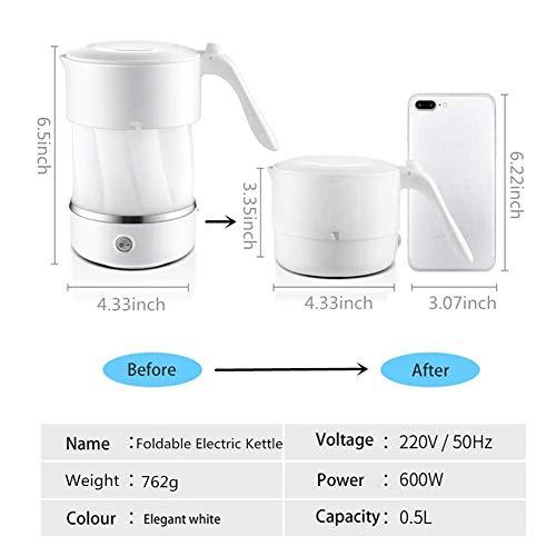 Adirigo Travel Foldable Eletric Kettles-White