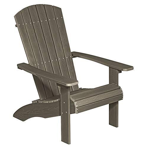 NEG Design Adirondack Stuhl Marcy (braungrau) Westport-Chair/Sessel aus Polywood-Kunststoff (Holzoptik, wetterfest, UV- und farbbeständig)