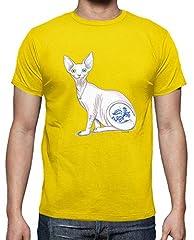 Camiseta Gato Esfinge para Hombre