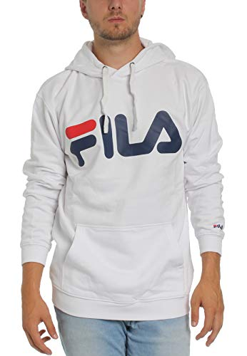 Fila Classic Logo Kangaroo hoodie bright white