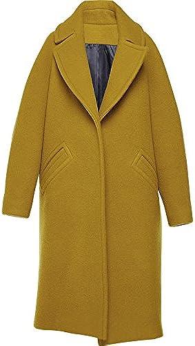 Xuanku Long Manteau en Laine, à Manches Longues Col Cocoon Costume Manteau De Laine