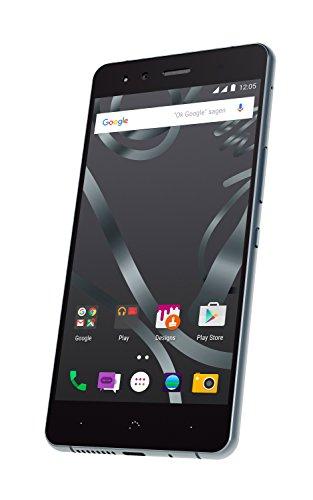 BQ C000161 Aquaris X5 Cyanogen Smartphone (16 mit 2GB) anthrazit grau/schwarz