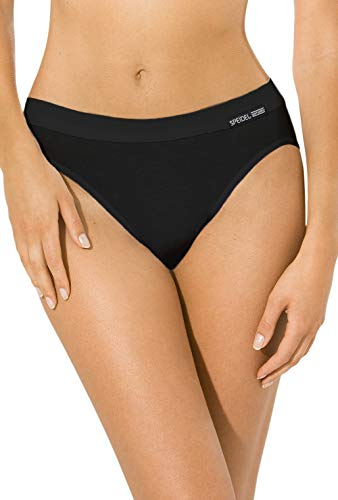 5er Pack Jazzpants Sport Edition Slip Damen, Bio Baumwolle Farbe: schwarz Größen 38-48, Größe 40