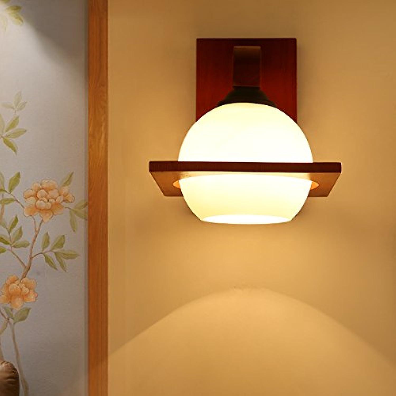 StiefelU LED Wandleuchte nach oben und unten Wandleuchten Wohnzimmer Wand Lampen Massivholz antike Schlafzimmer Bett hotel Gang Treppe,93007