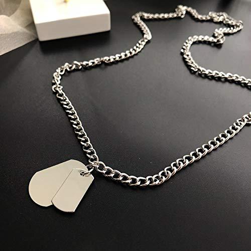 Collar de hombreNueva Moda Multicapa Hip Hop Collar De Cadena Larga para Mujeres Hombres Joyería Regalos Clave Cruz Colgante Collar Accesorios 2