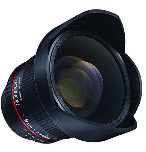 Rokinon HD8M-NEX 8mm f/3.5 HD Fisheye Lens with Removable Hood for...