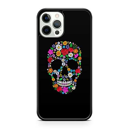 Carcasa para teléfono Samsung Galaxy J5 (2017), diseño de calavera con flores, multicolor