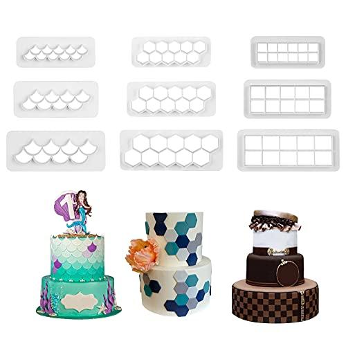 Runhiskii 9 Pieces Cake Mold Cookie…
