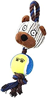 DORLIONA 1pcs Pets Dogs Pet Puppy Chew Squeaker Toy Pet Dog Squeaky Corduroy Rope Sound Animal Shape Chew Toys Funny Toy D...