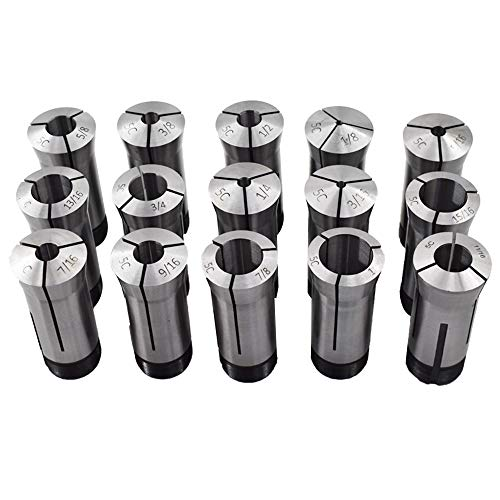 New15Pcs 5C Collet Set Fit for Machining Turning