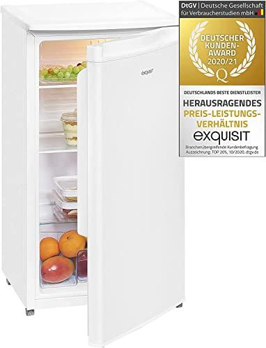 Exquisit Kühlschrank KS85-9RVA++ | Standgerät | 82 L Volumen | Weiß