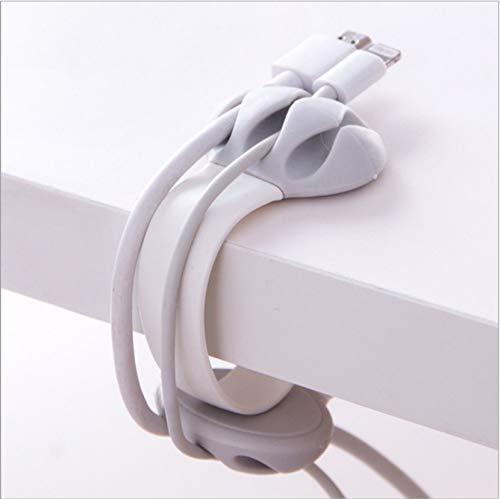 巻き取り式 ケーブルクリップ USBケーブル 卓上ホルダー Aiueo 猫爪型 万能クリップ コードクリップ ケーブル類整理 配線アクセサリーホルダー リール式收納 3本固定 クリップ式 取外自由 S型 両面挿し 厚薄兼用 各種対応