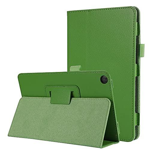 Etui pour Huawei MediaPad M5 Lite 8 Pouces Tablette Tablette Pliant PU Cuir Stand Cover pour Huawei MediaPad M5 Lite 8 Cas-Vert_M5 Lite 8 (8 Pouces)