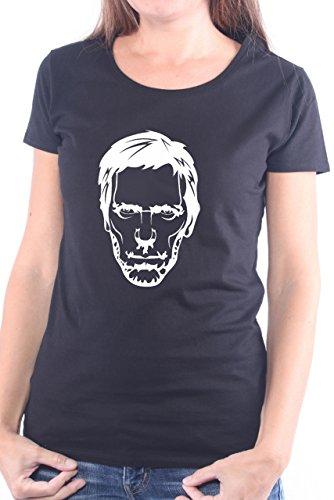 Mister Merchandise Ladies Frauen Damen T-Shirt Dr Doctor House, Größe: XS, Farbe: Schwarz